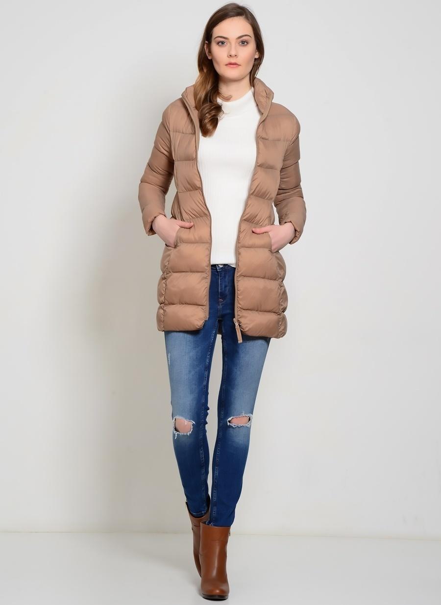 XL Vizon Fashion Friends Yağmurluk Kadın Dış Giyim Mont
