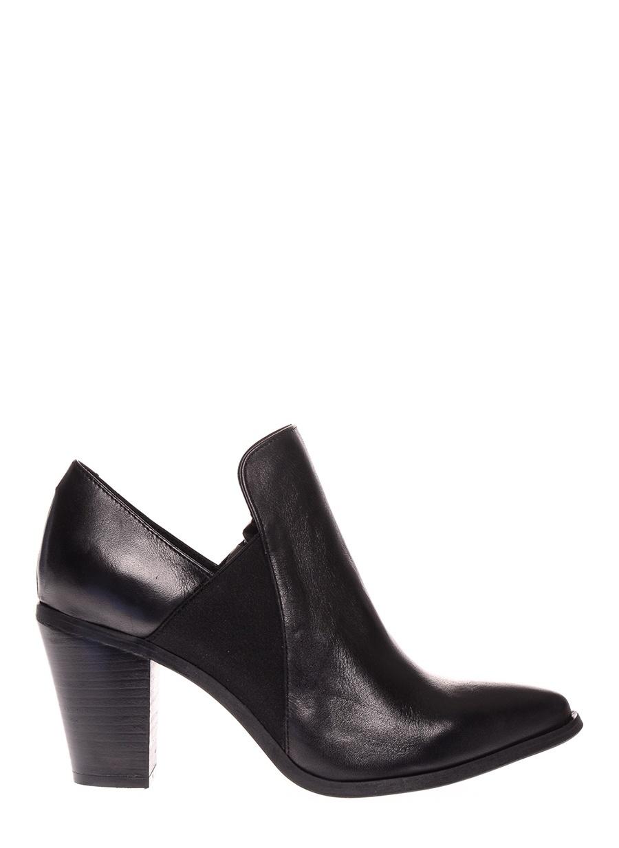 37 Siyah Pieces Bot Ayakkabı Çanta Kadın Çizme