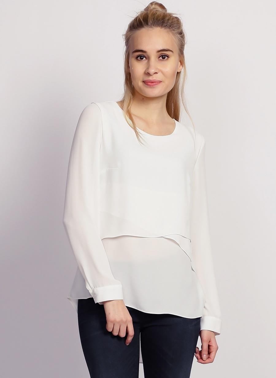 40 Beyaz Selen Bluz Kadın Giyim Gömlek