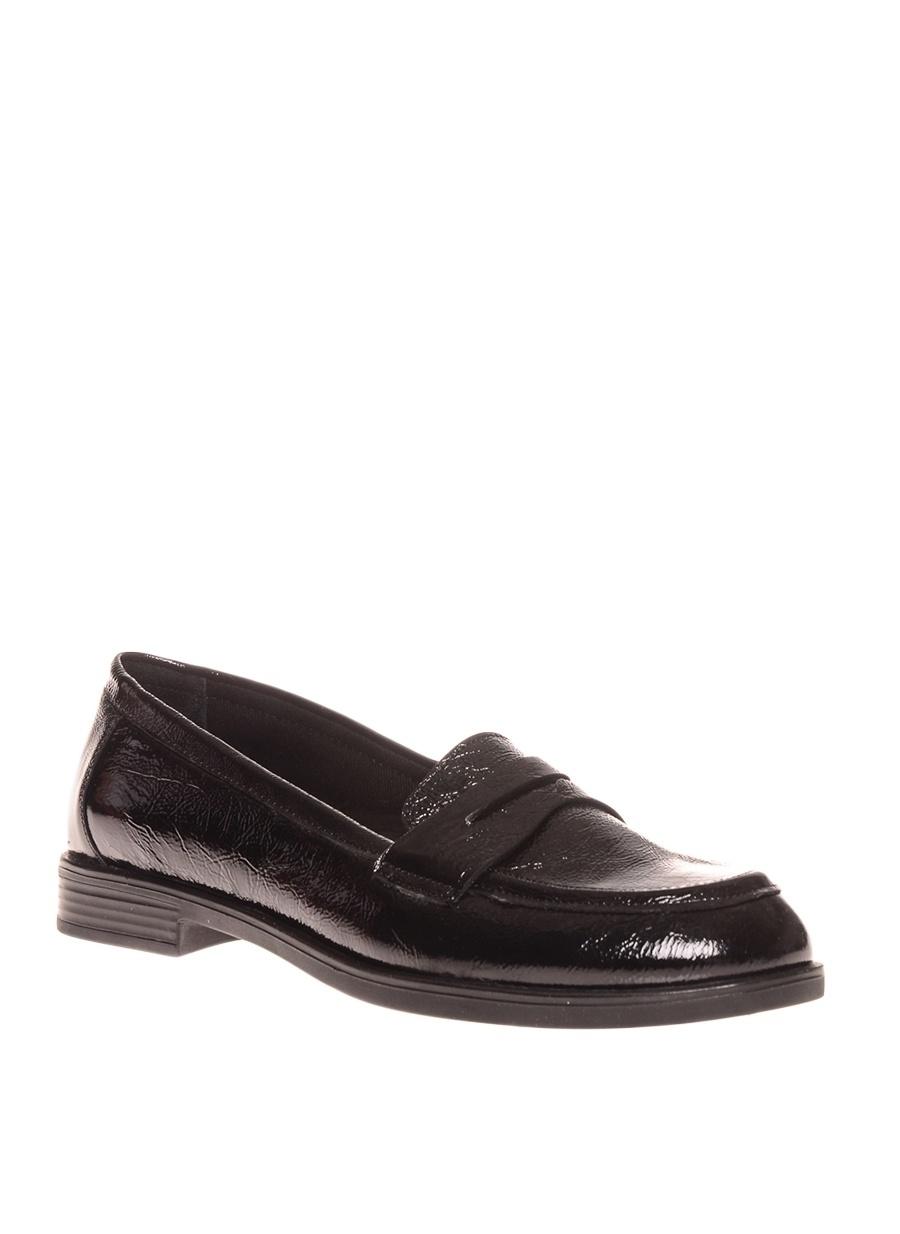 36 Siyah İnci Düz Ayakkabı Çanta Kadın