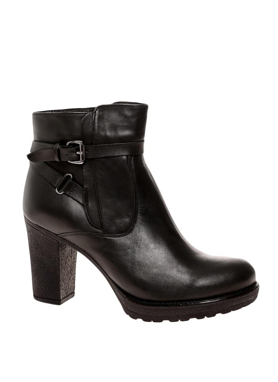 40 Siyah İnci Kemerli Bot Ayakkabı Çanta Kadın Çizme