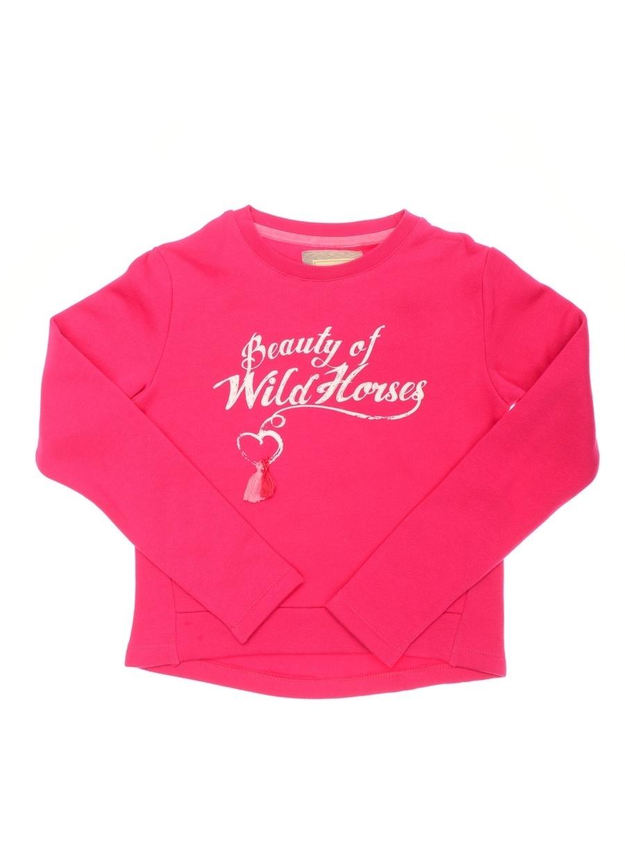 14 Yaş Kadın Fuşya Limon Sweatshırt Çocuk Giyim Sweatshirt