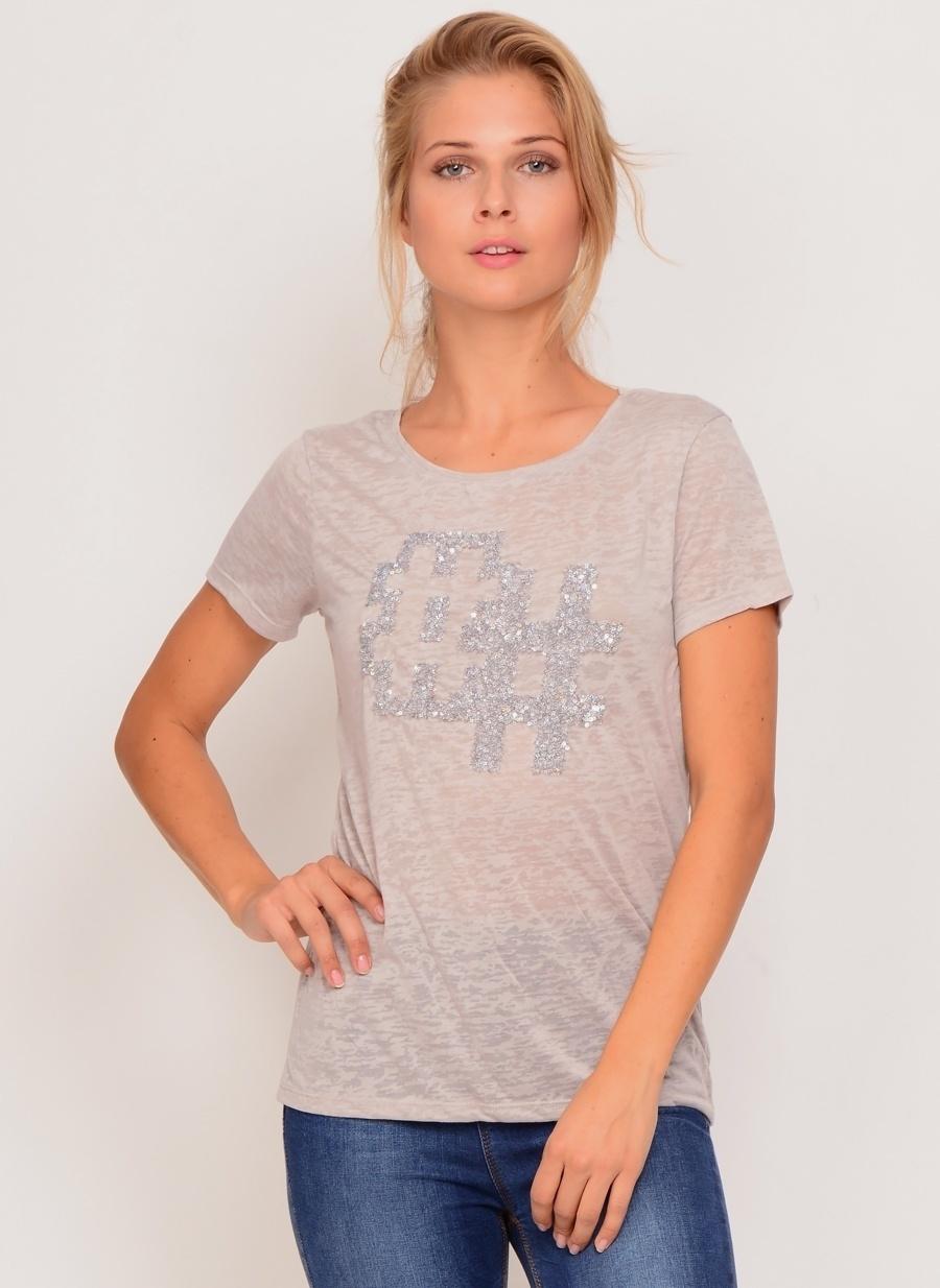 XS Gri Ole T-Shirt Kadın Giyim T-shirt Atlet