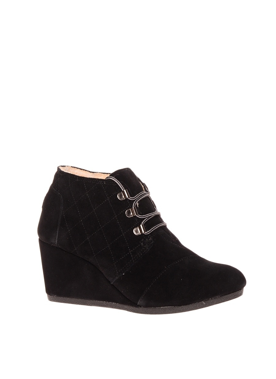 39 Siyah Toms Bot Ayakkabı Çanta Kadın Çizme