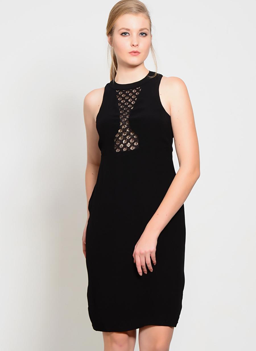 M Siyah Foxiedox Elbise Kadın Giyim