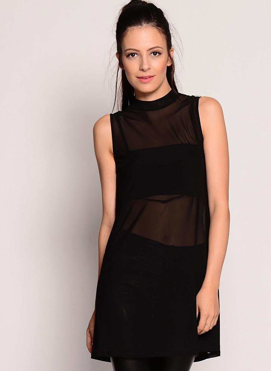 S Siyah Evil Twin Elbise Kadın Giyim