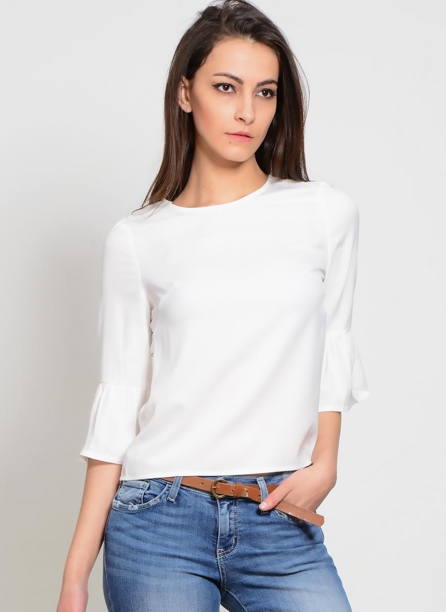 42 Beyaz Girls On Film Bluz Kadın Giyim Gömlek