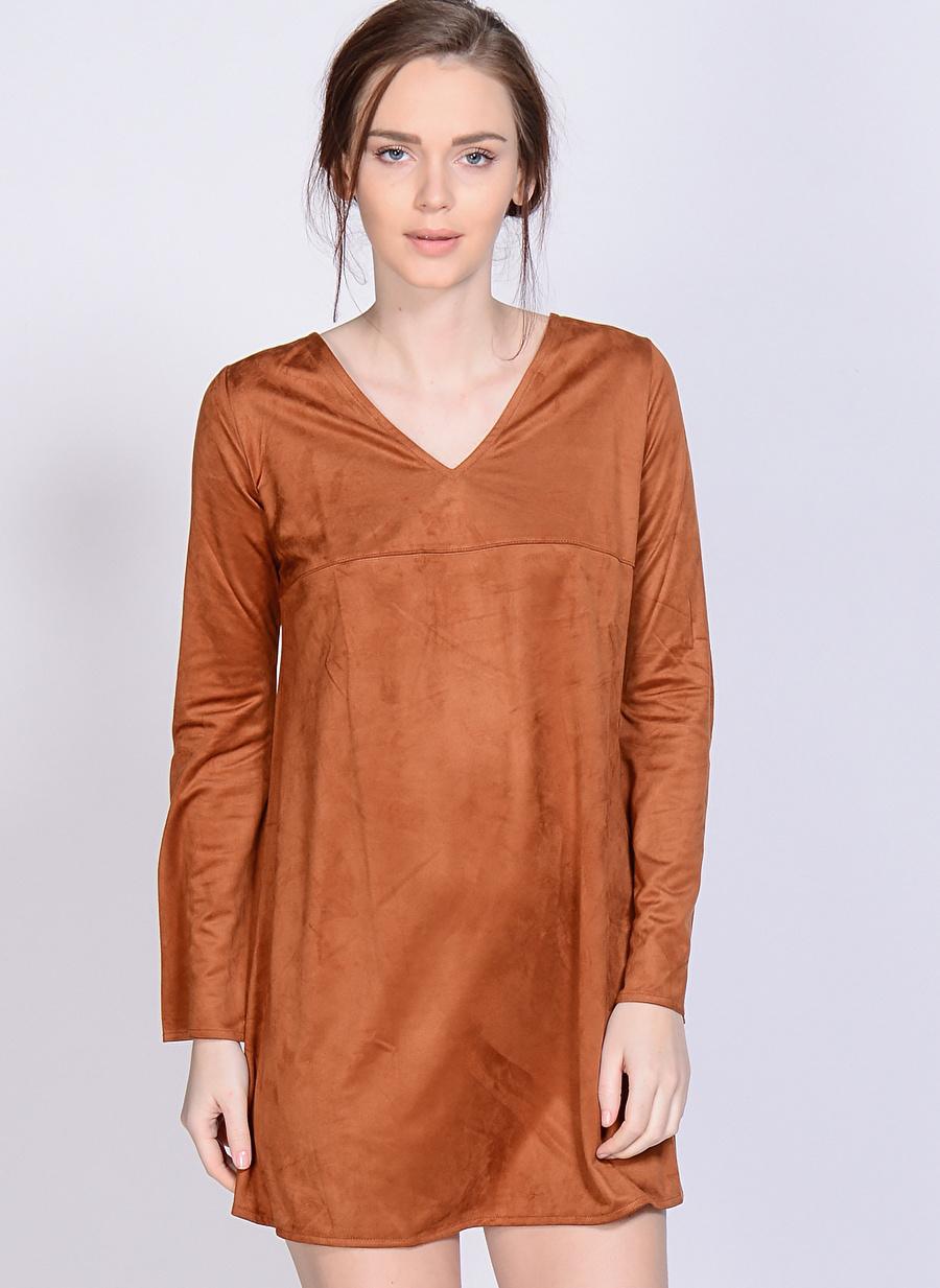 M Deve Tüyü Melanj Motel Rocks Elbise Kadın Giyim