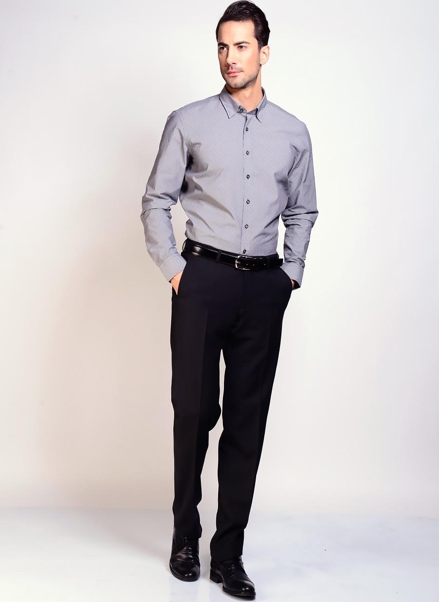 42 Gri Network Gömlek Erkek Giyim