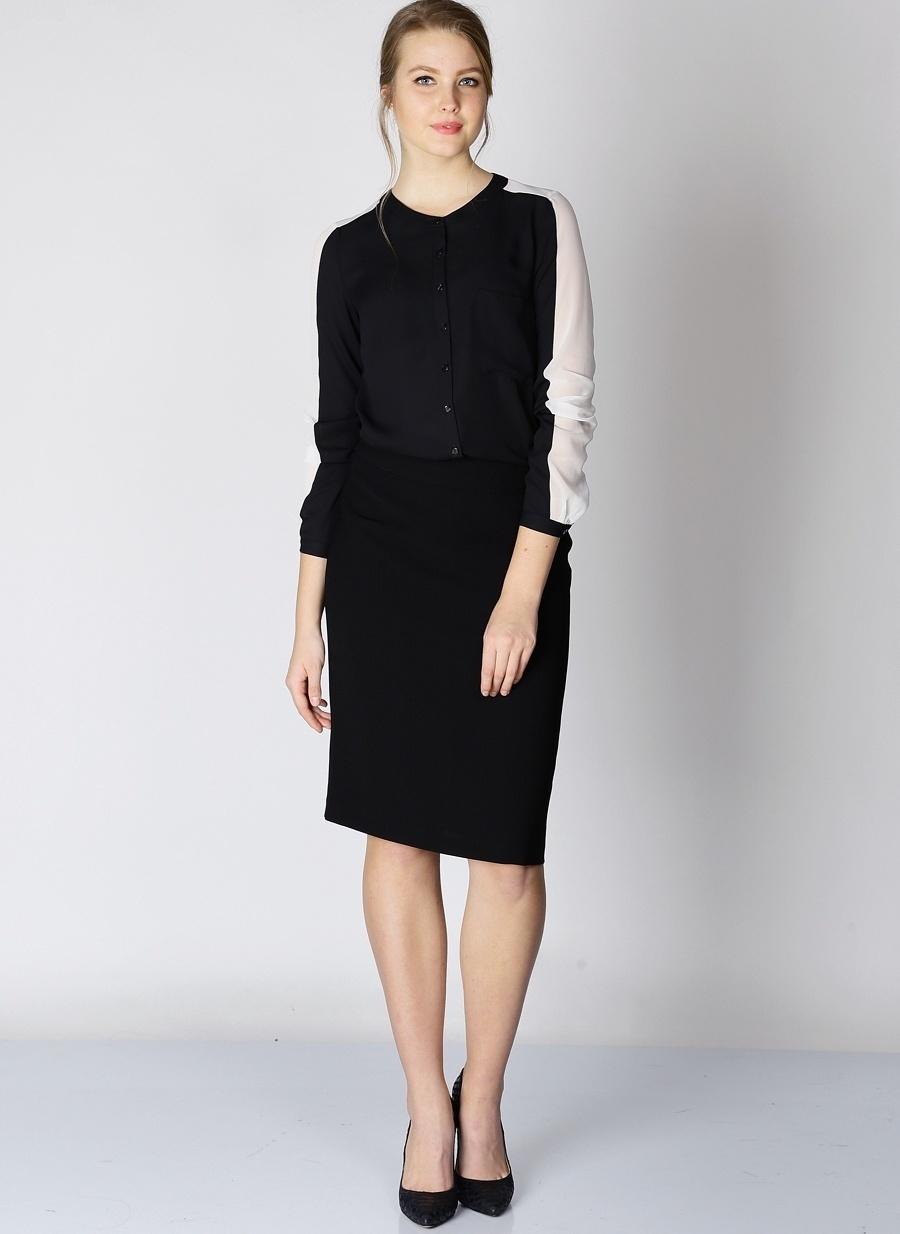 Standart Siyah Selen Etek Kadın Giyim