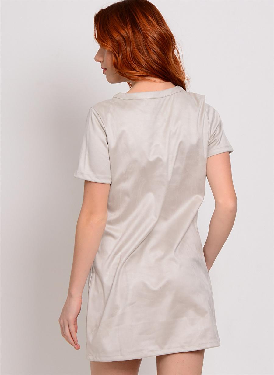 M Açık Antrasit Glamorous Elbise Kadın Giyim