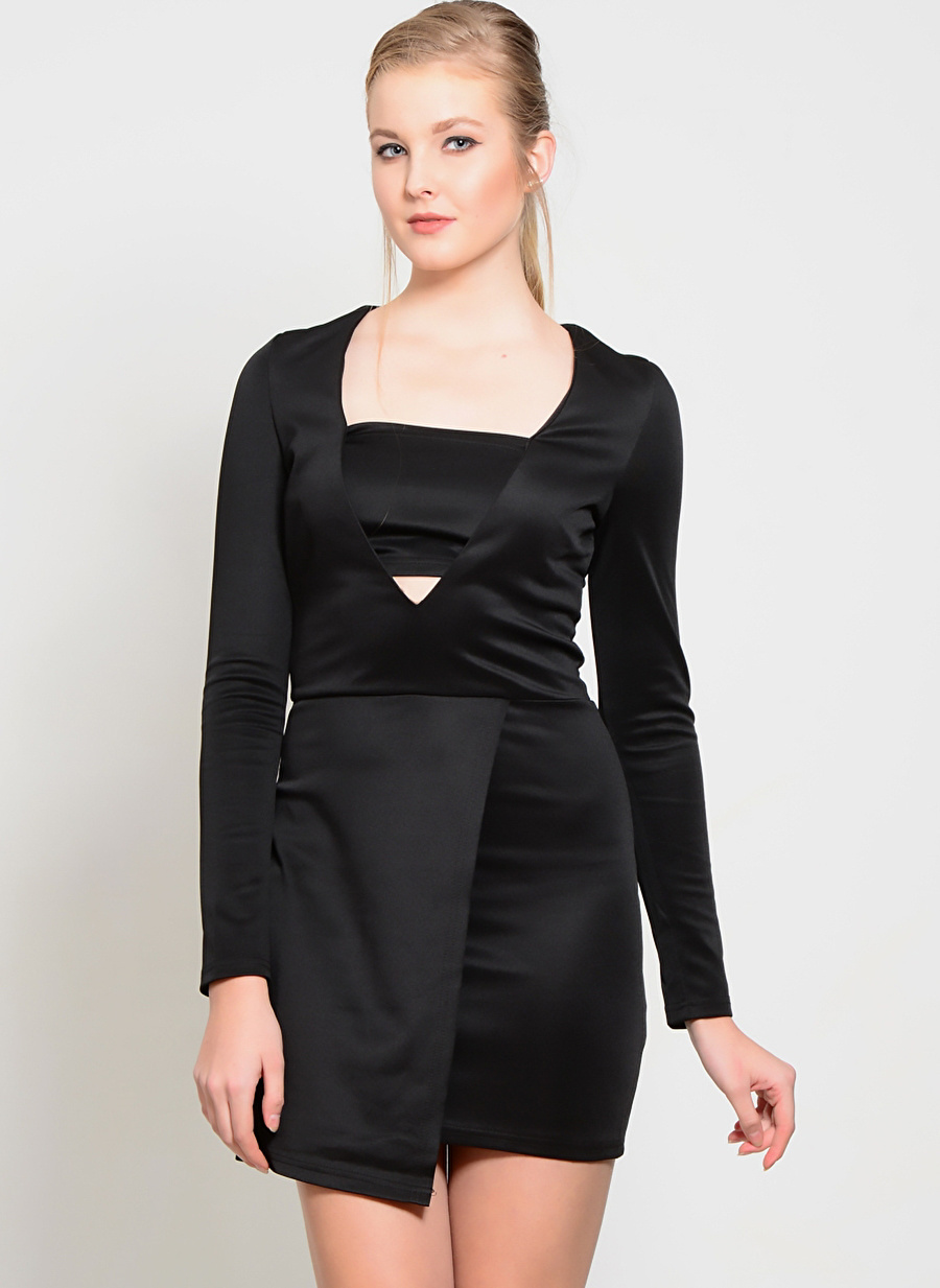 36 Siyah Lavish Alice Elbise Kadın Giyim