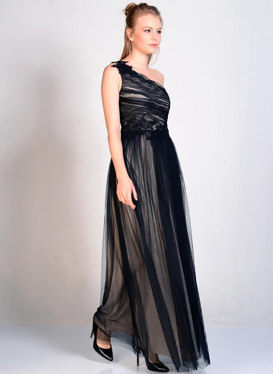 38 Siyah Little Mistress Elbise Kadın Giyim