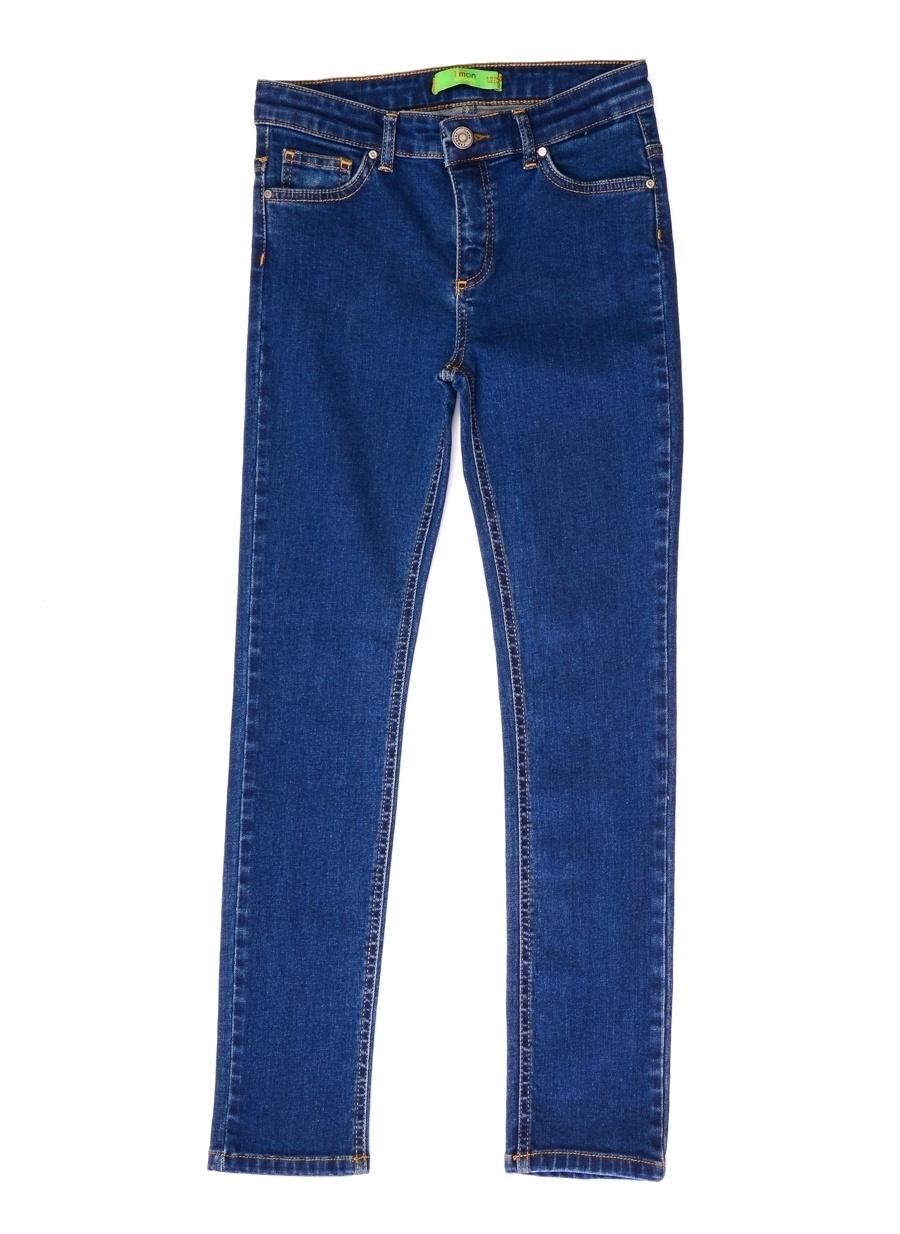 5 Yaş Kadın İndigo Limon Jean Pantolon Çocuk Giyim Tayt