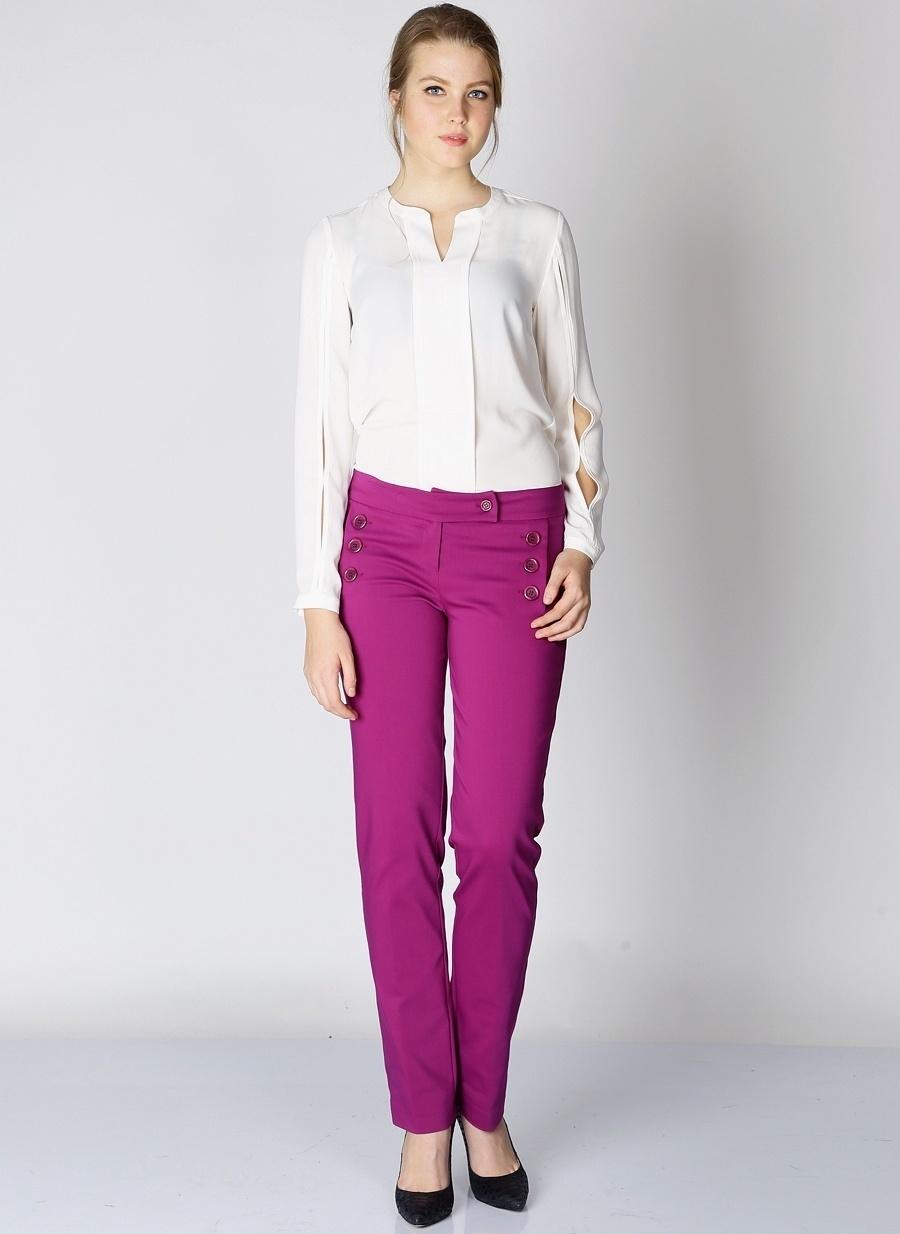 42 Açık Mor Selen Pantolon Kadın Giyim