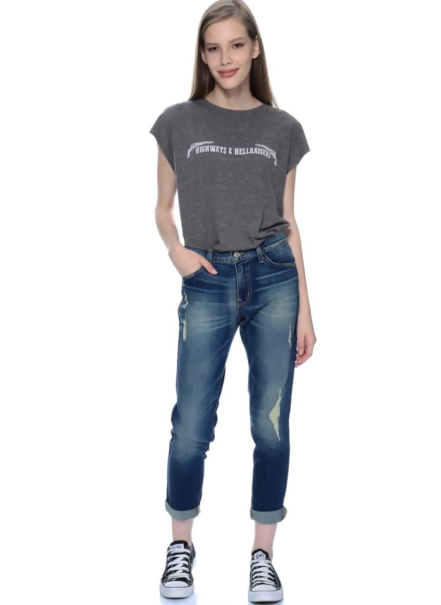 30-32 Mavi Flying Monkey Jean Denim Pantolon Kadın Giyim