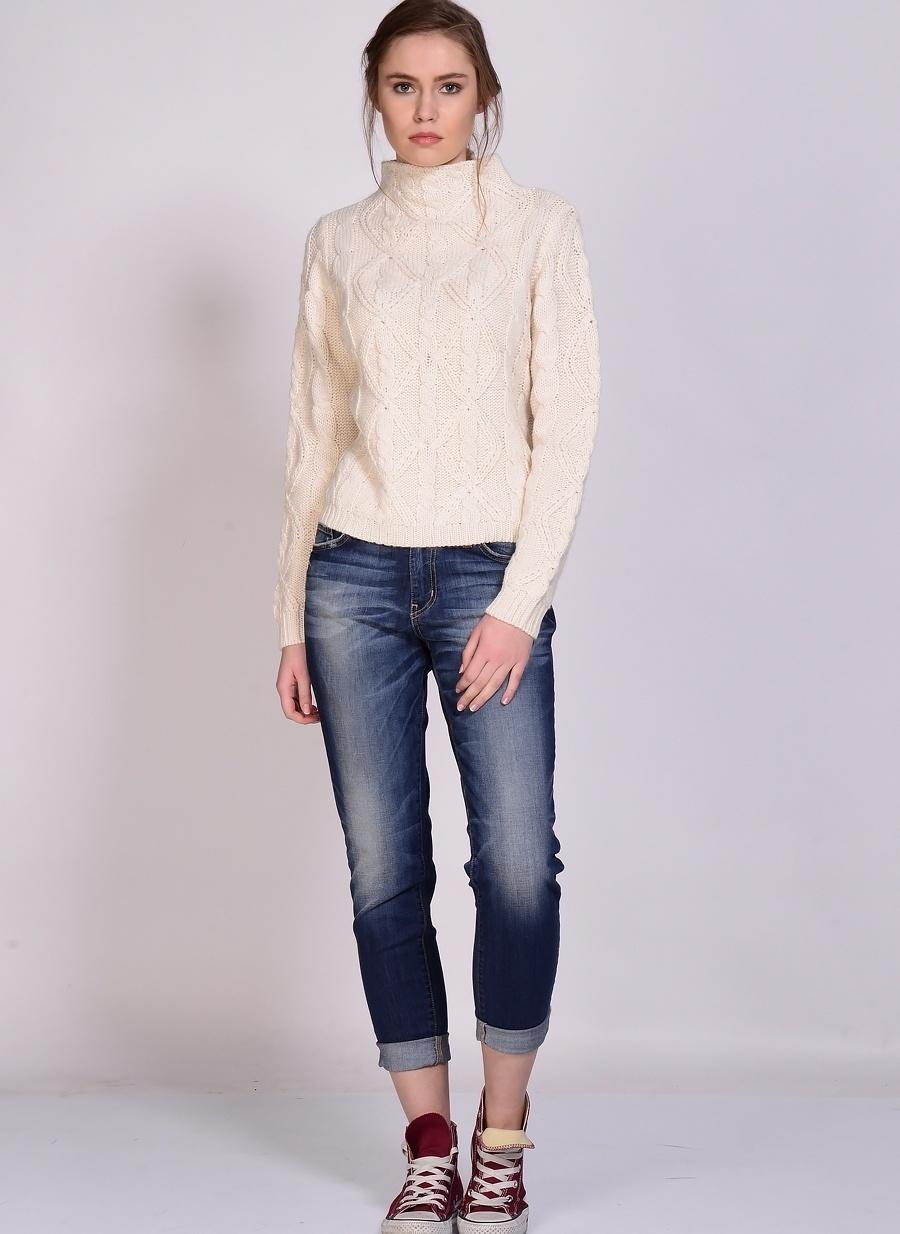 30-32 Koyu Turkuaz Flying Monkey Jean Denim Pantolon Kadın Giyim