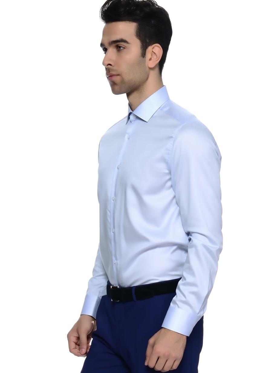 42 Açık Mavi Kip Gömlek Erkek Giyim