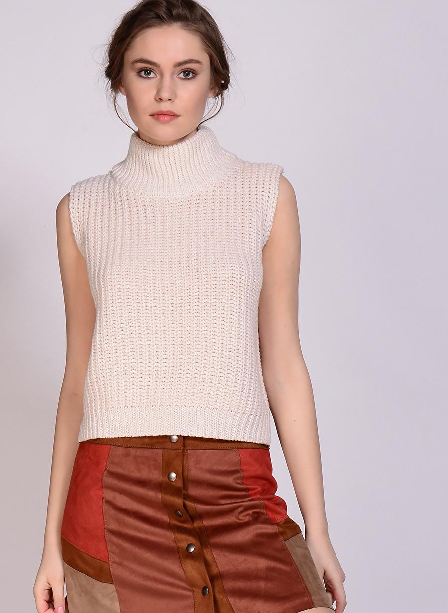 M Krem Glamorous Bluz Kadın Giyim Gömlek