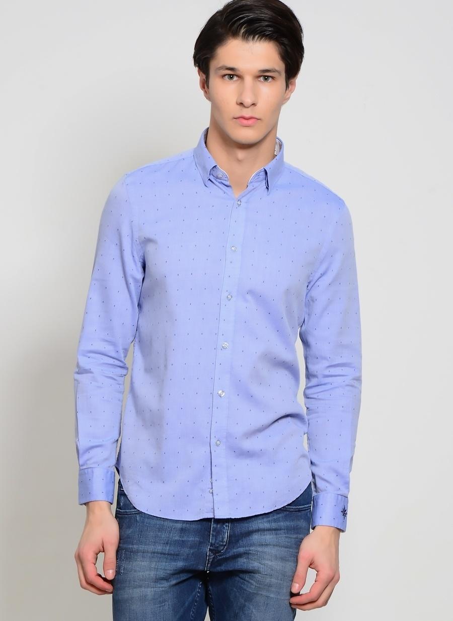 2XL Mavi North Of Navy Gömlek Erkek Giyim