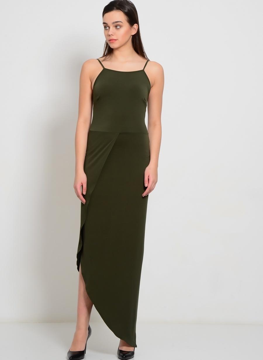 S Haki Walg Elbise Kadın Giyim