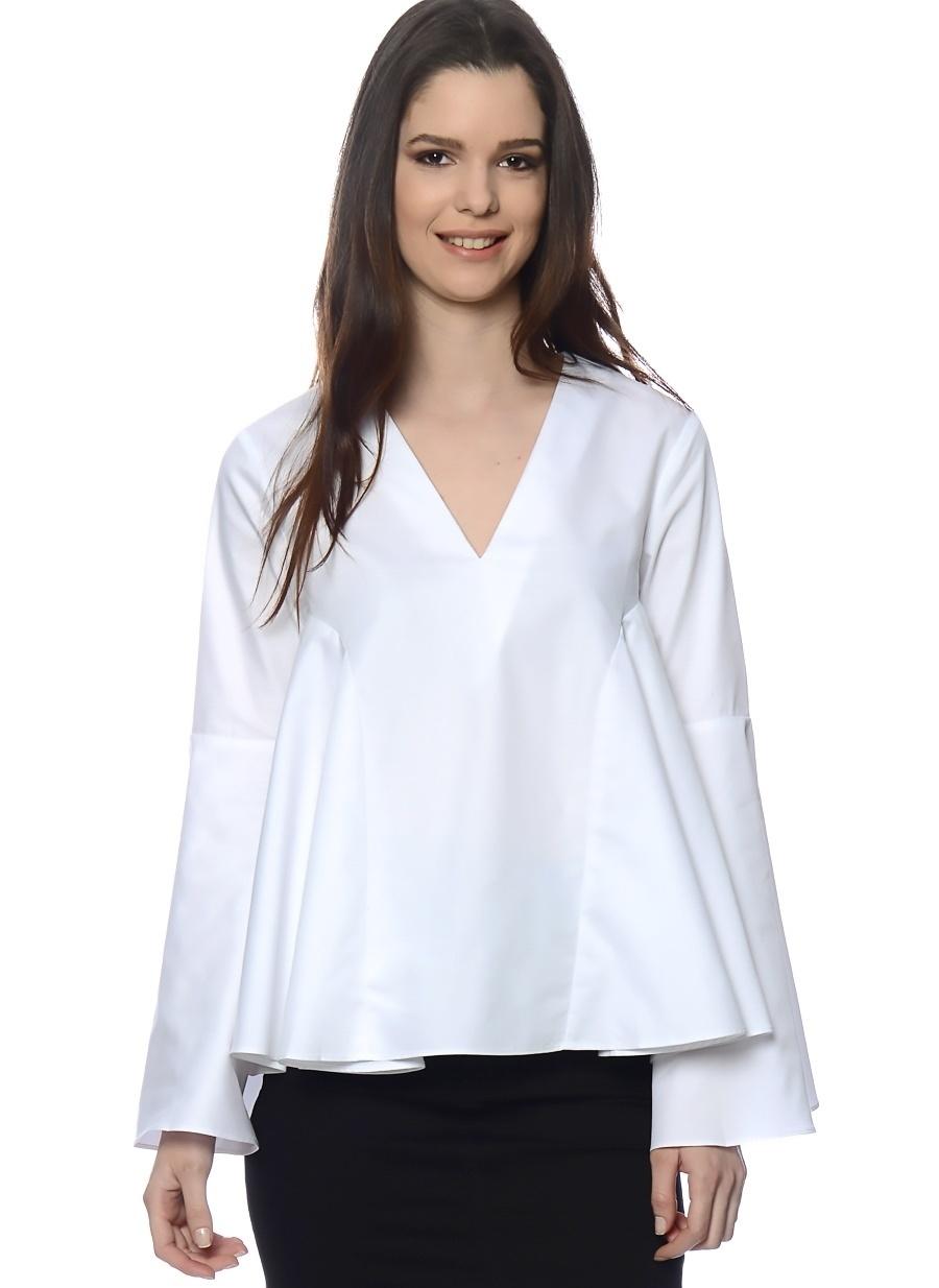 L Siyah Endless Rose Bluz Kadın Giyim Gömlek