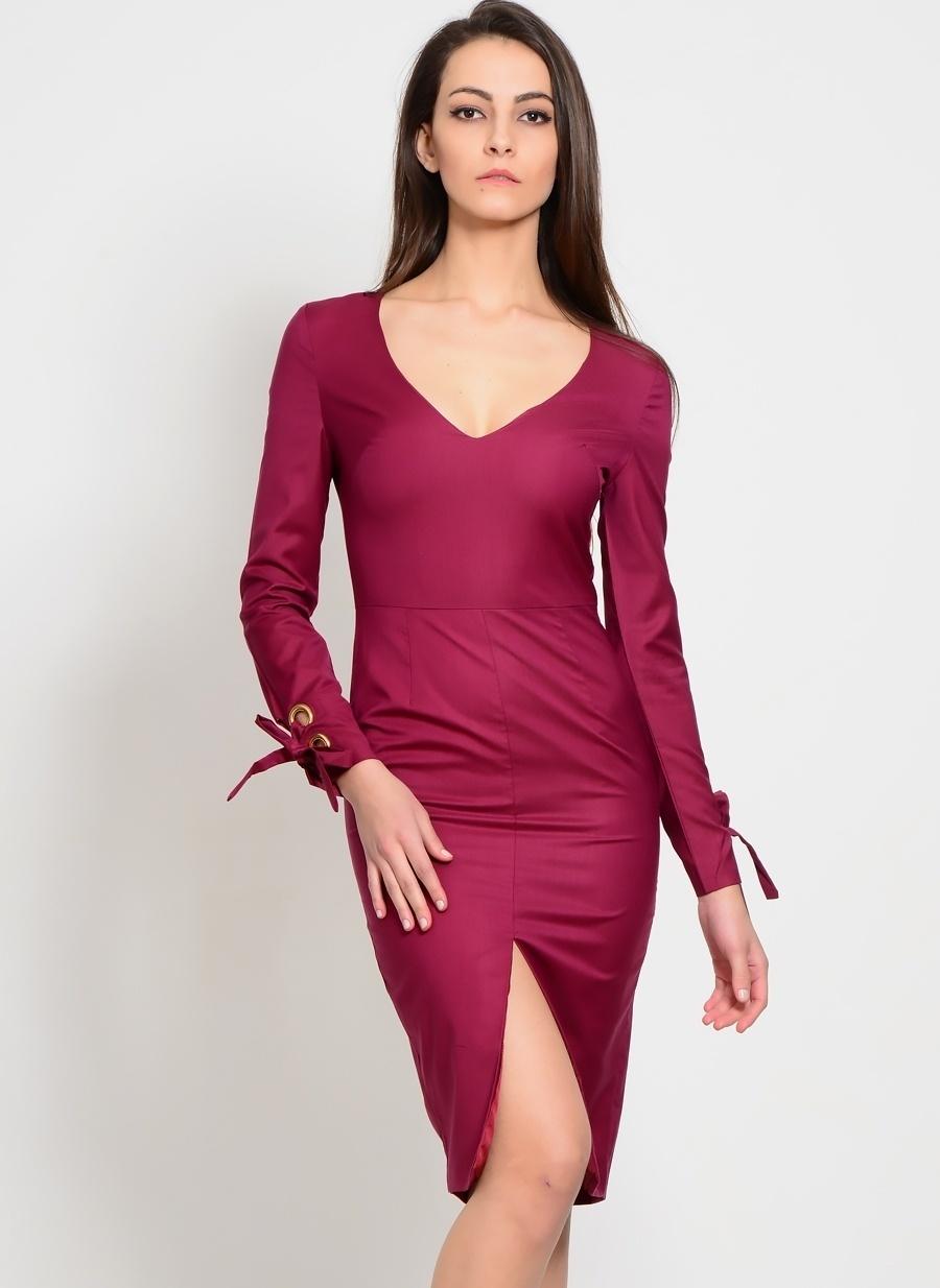 36 Koyu Mor Lavish Alice Elbise Kadın Giyim