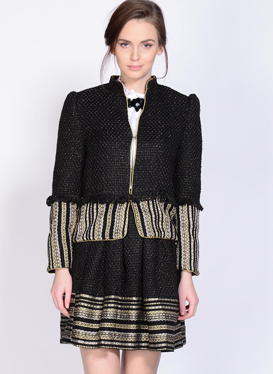S Siyah Sister Jane Mont Kadın Dış Giyim