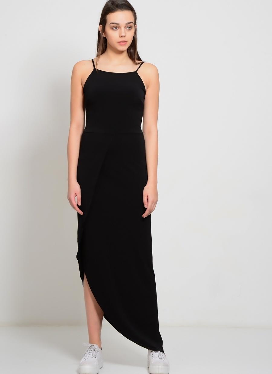 S Siyah Walg Elbise Kadın Giyim