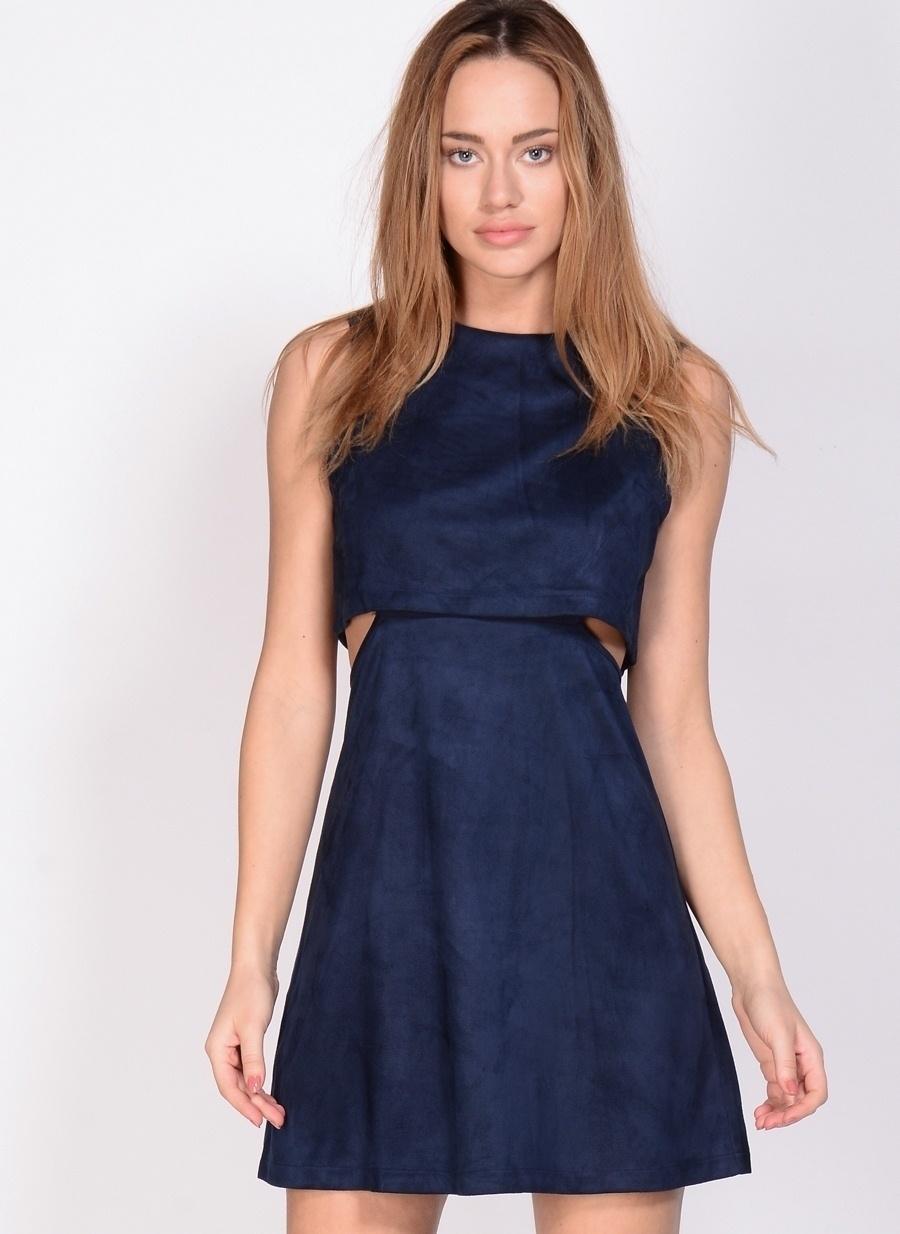 40 Koyu Lacivert Fashion Union Elbise Kadın Giyim