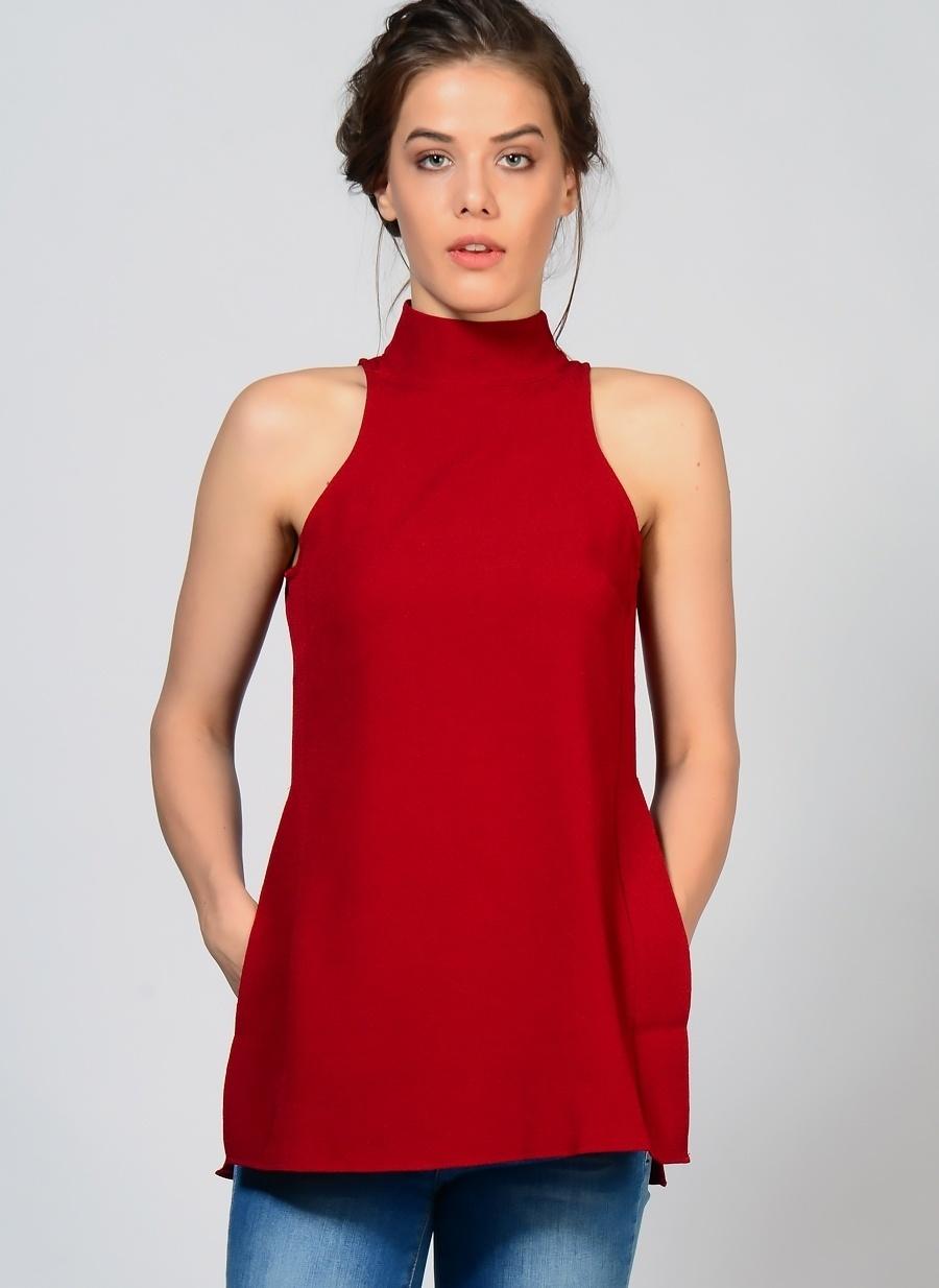 40 Kırmızı Fashion Union Tunik Kadın Giyim