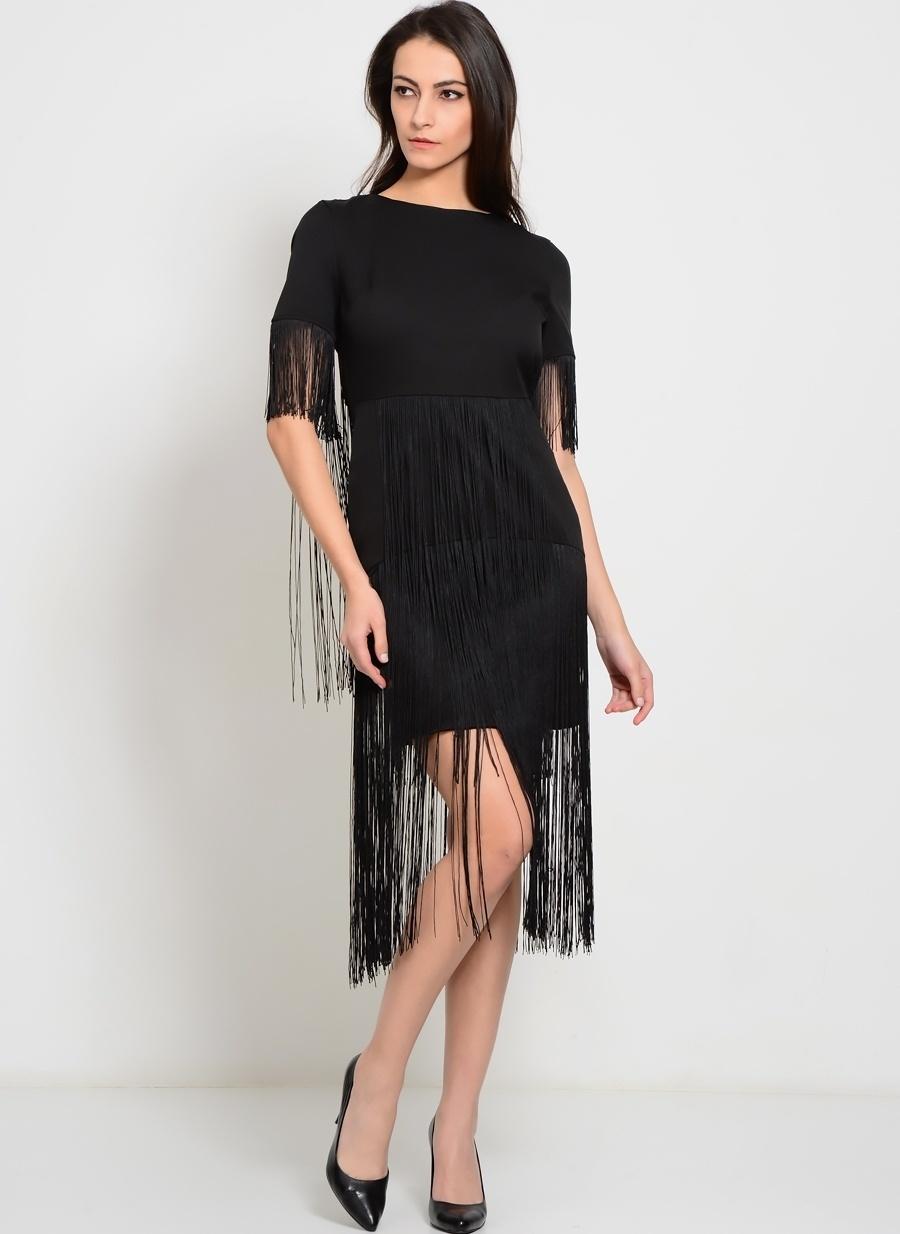 38 Siyah Lavish Alice Elbise Kadın Giyim
