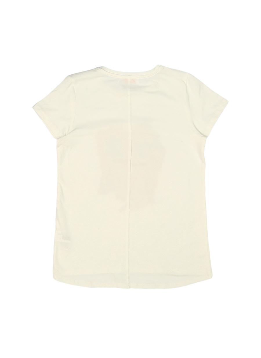 3 Yaş Kadın Füme Melanj Pinkamp;Orange Pink&Orange Çocuk Baskılı T-Shırt Giyim T-shirt