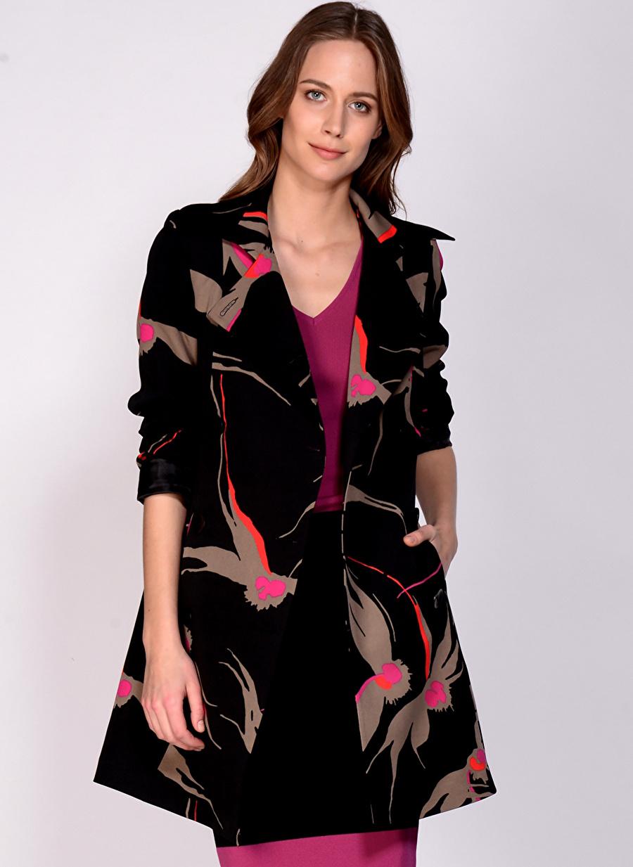 38 Siyah House Of Camellia Kaban Kadın Dış Giyim