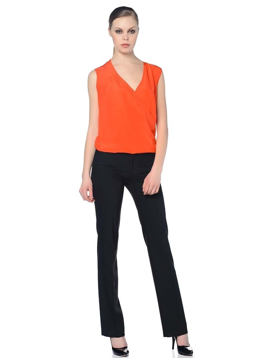 S Neon Kırmızı Fabrika Bluz Kadın Giyim Gömlek