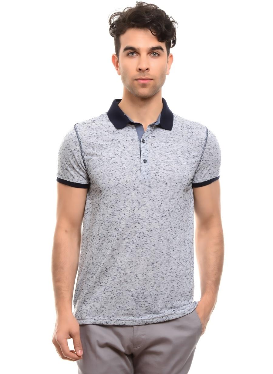 L Koyu Lacivert Fabrika T-Shirt Erkek Giyim T-shirt Atlet