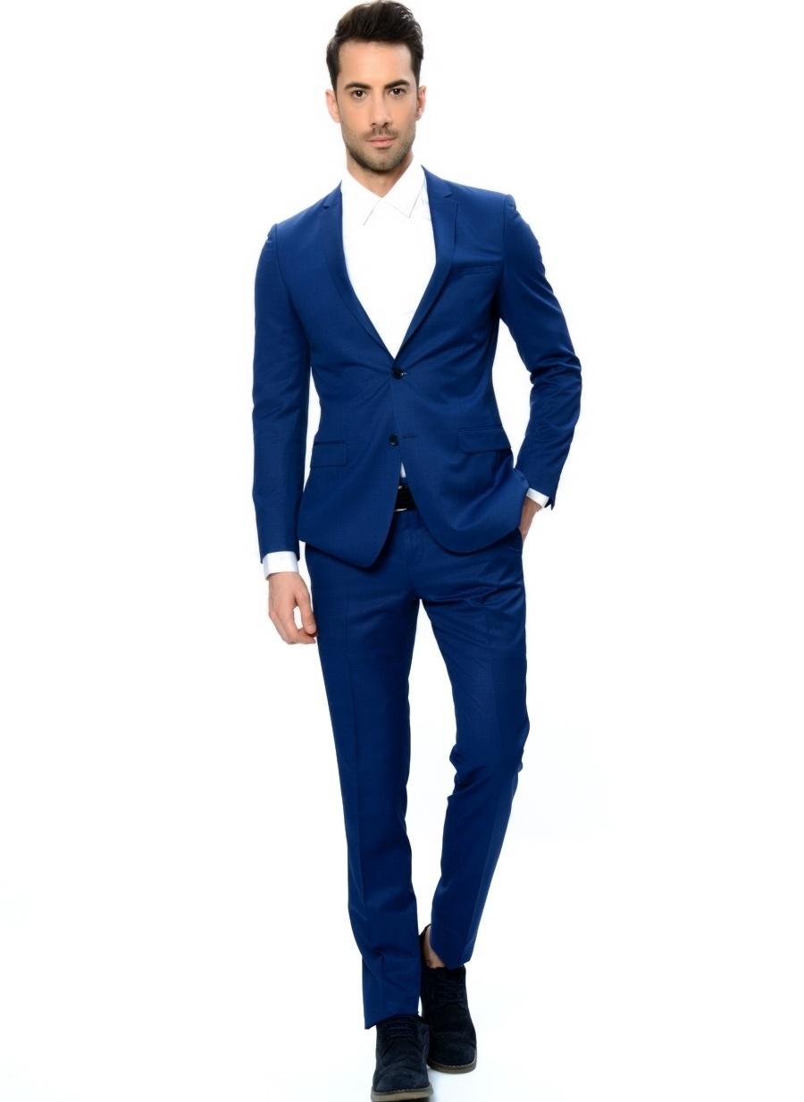 52-6 Koyu Lacivert Fabrika Takım Elbise Erkek Giyim