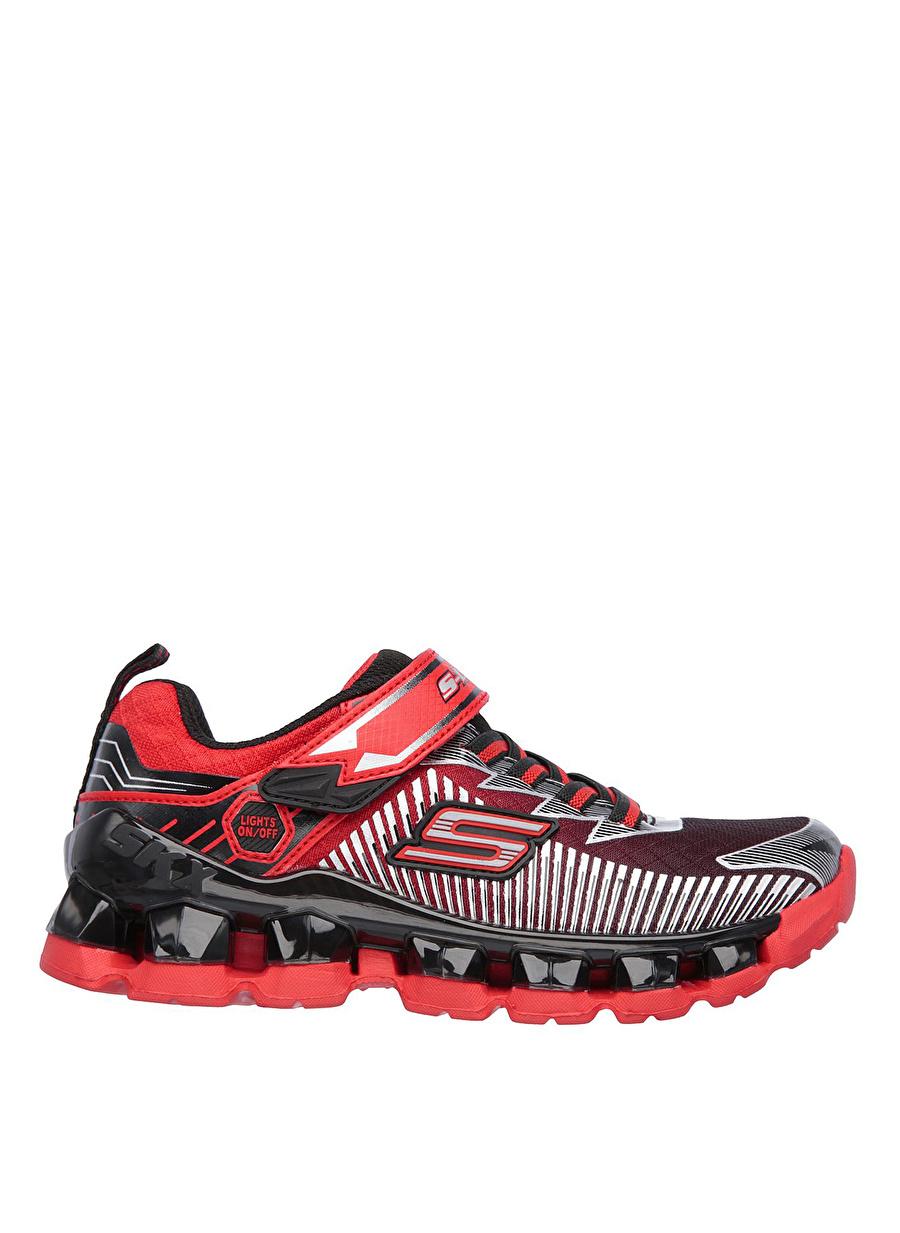 30 Kırmızı Skechers 90293L RDBK Flashpod - Scoria Erkek Çocuk Yürüyüş Ayakkabısı Çanta Ayakkabıları Koşu Antrenman