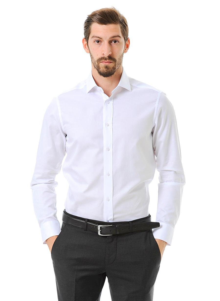 43 Beyaz Kip Gömlek Erkek Giyim