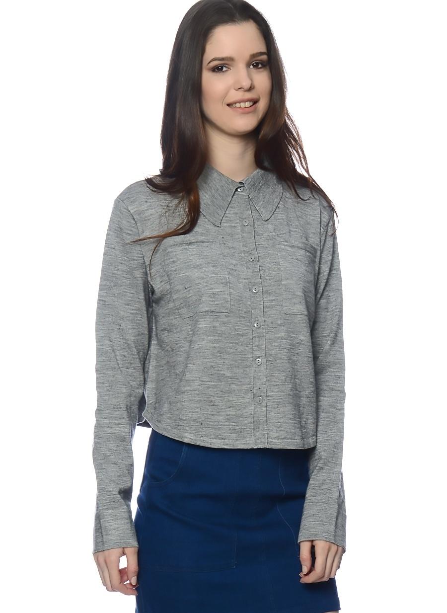 M Gri Six Crisp Days Bluz Kadın Giyim Gömlek