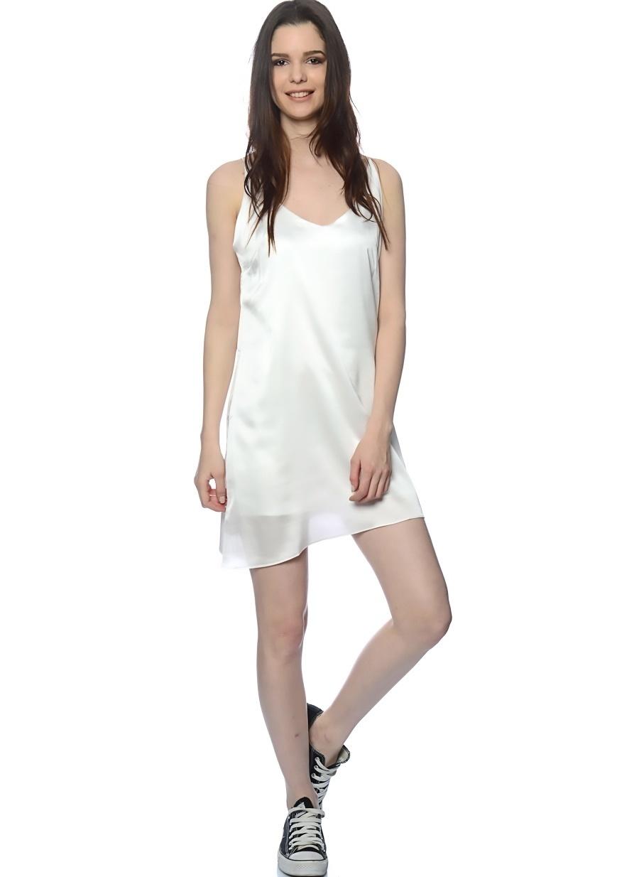 M Beyaz Six Crisp Days Elbise Kadın Giyim
