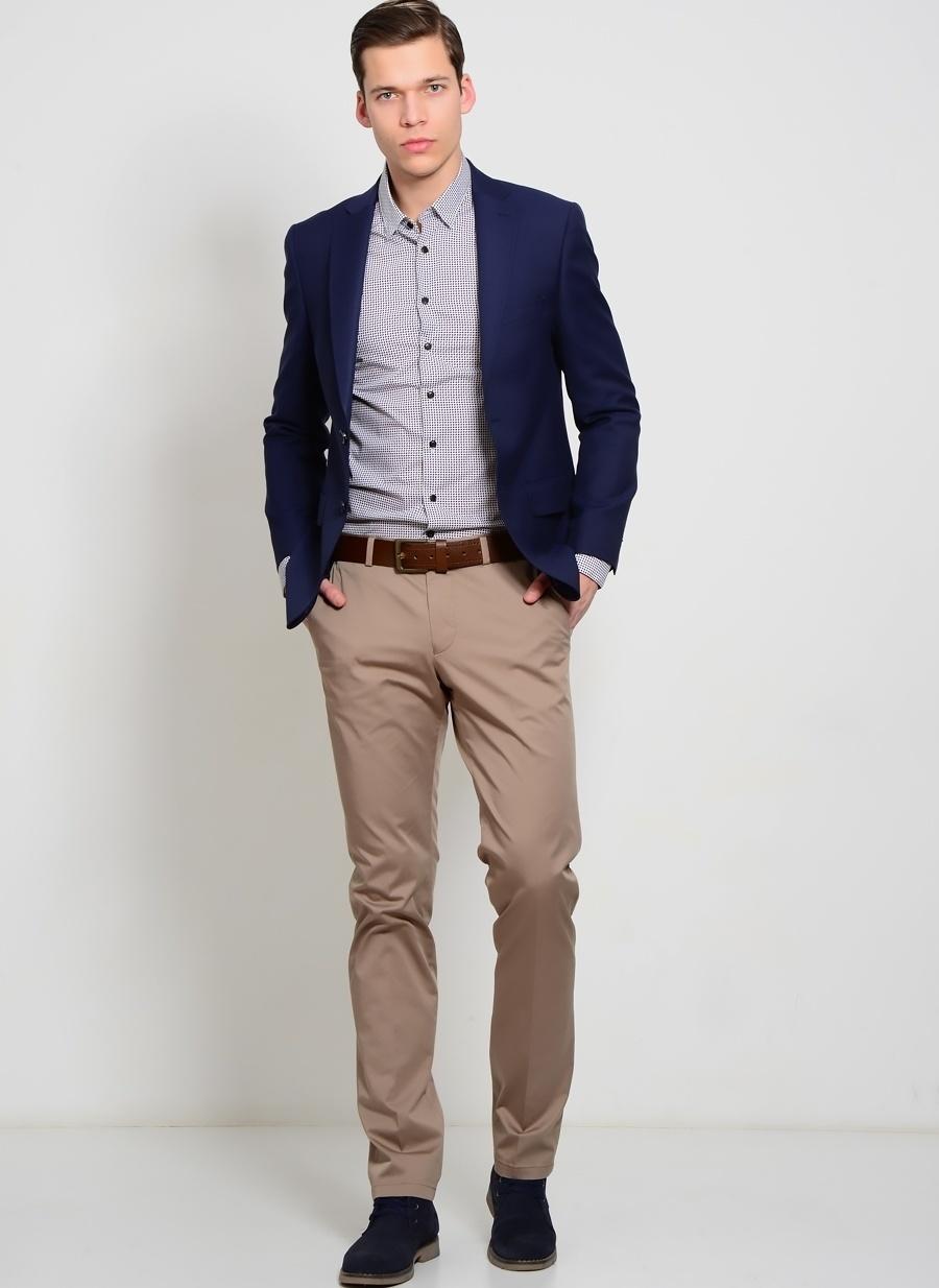 56 Vizon Kip Klasik Pantolon Erkek Giyim