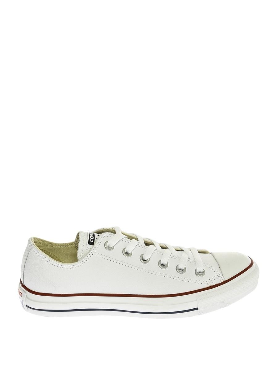 38 Kadın Beyaz Converse Chuck Taylor Deri Düz Ayakkabı Shoes Ladies