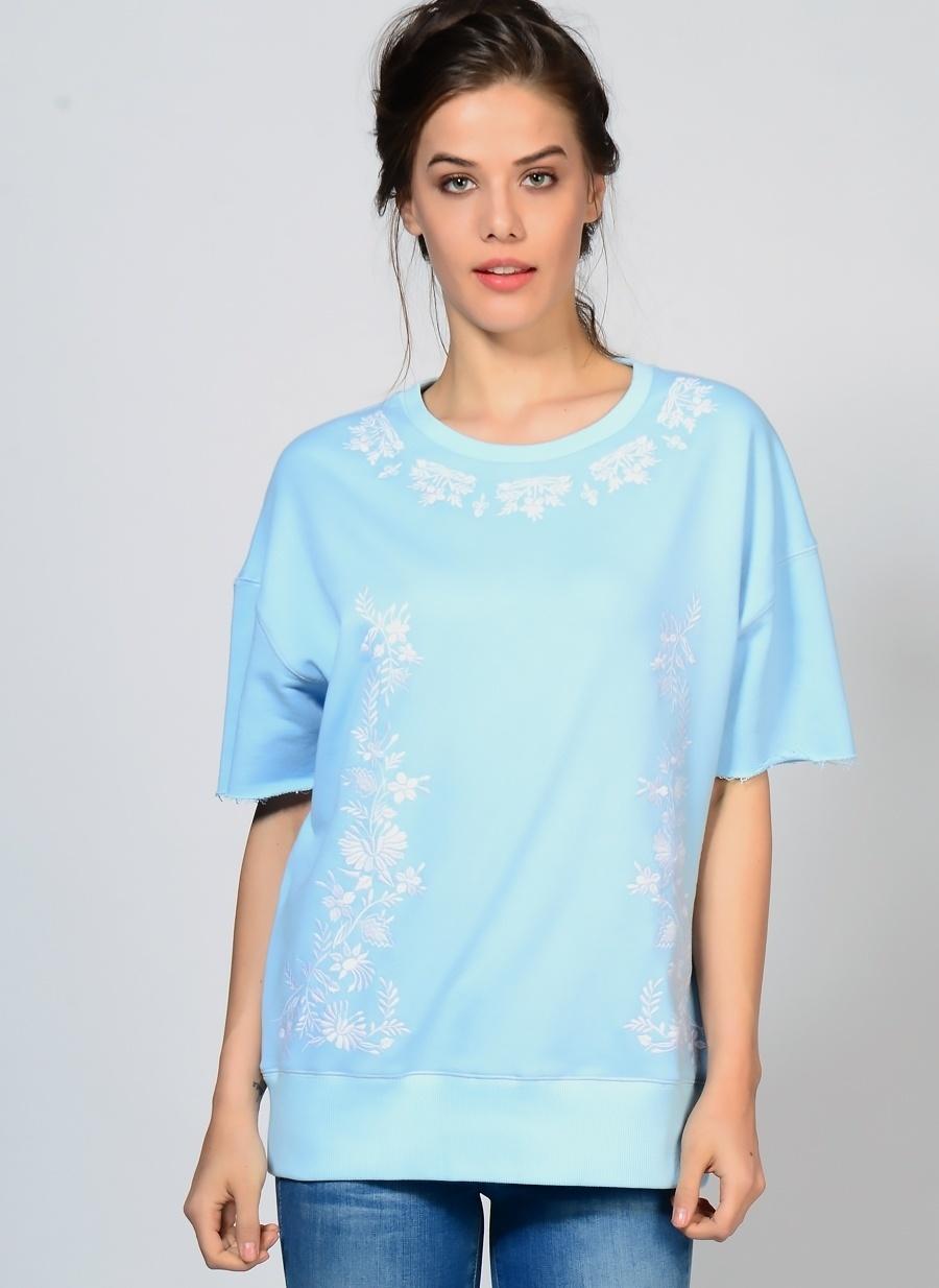 S Mavi Little White Lies Sweatshırt Kadın Spor Giyim Sweatshirt