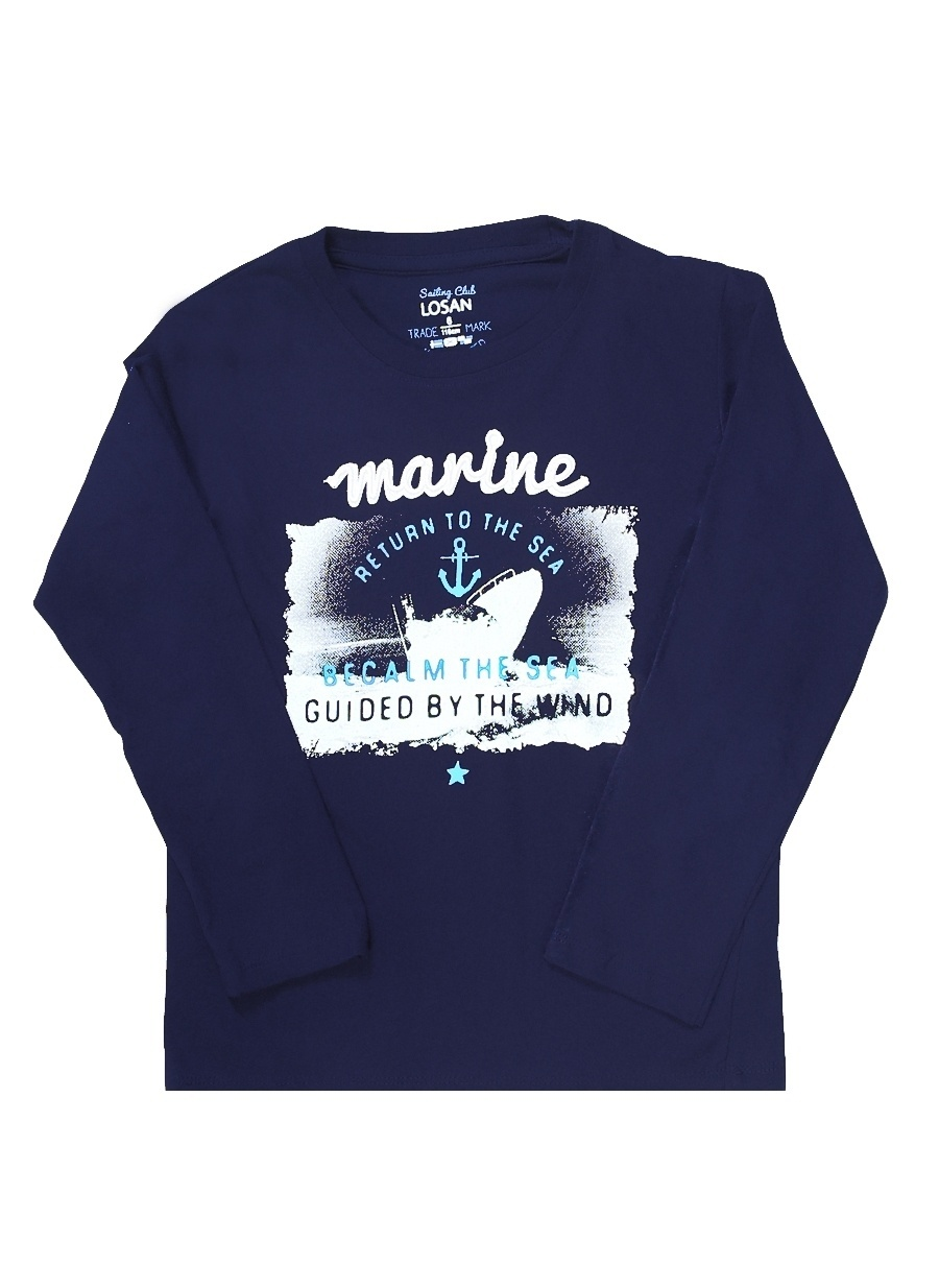 3 Yaş Erkek Koyu Lacivert Losan T-Shirt Çocuk Giyim T-shirt