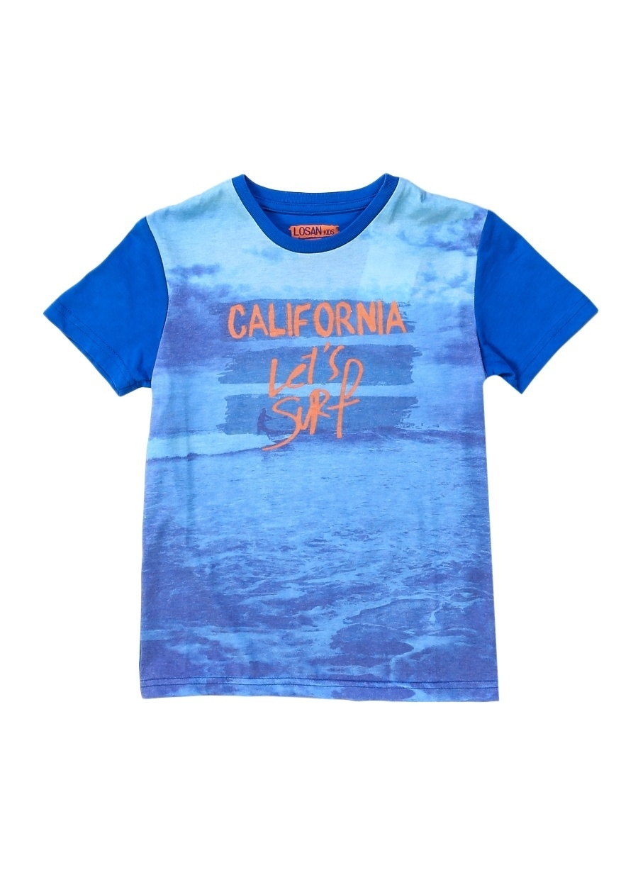 2 Yaş Erkek Mavi Losan T-Shirt Çocuk Giyim T-shirt