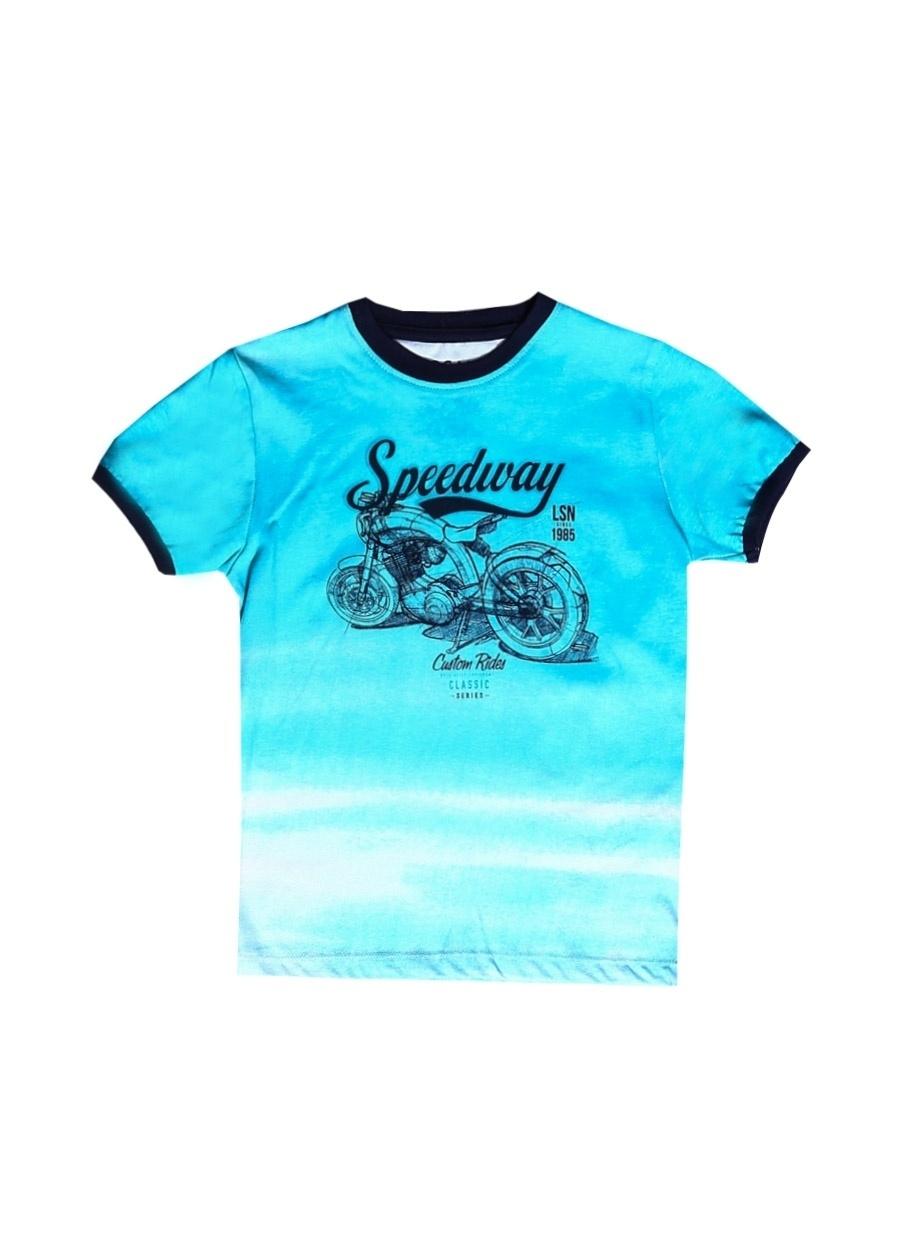 3 Yaş Erkek Mavi Losan T-Shirt Çocuk Giyim T-shirt