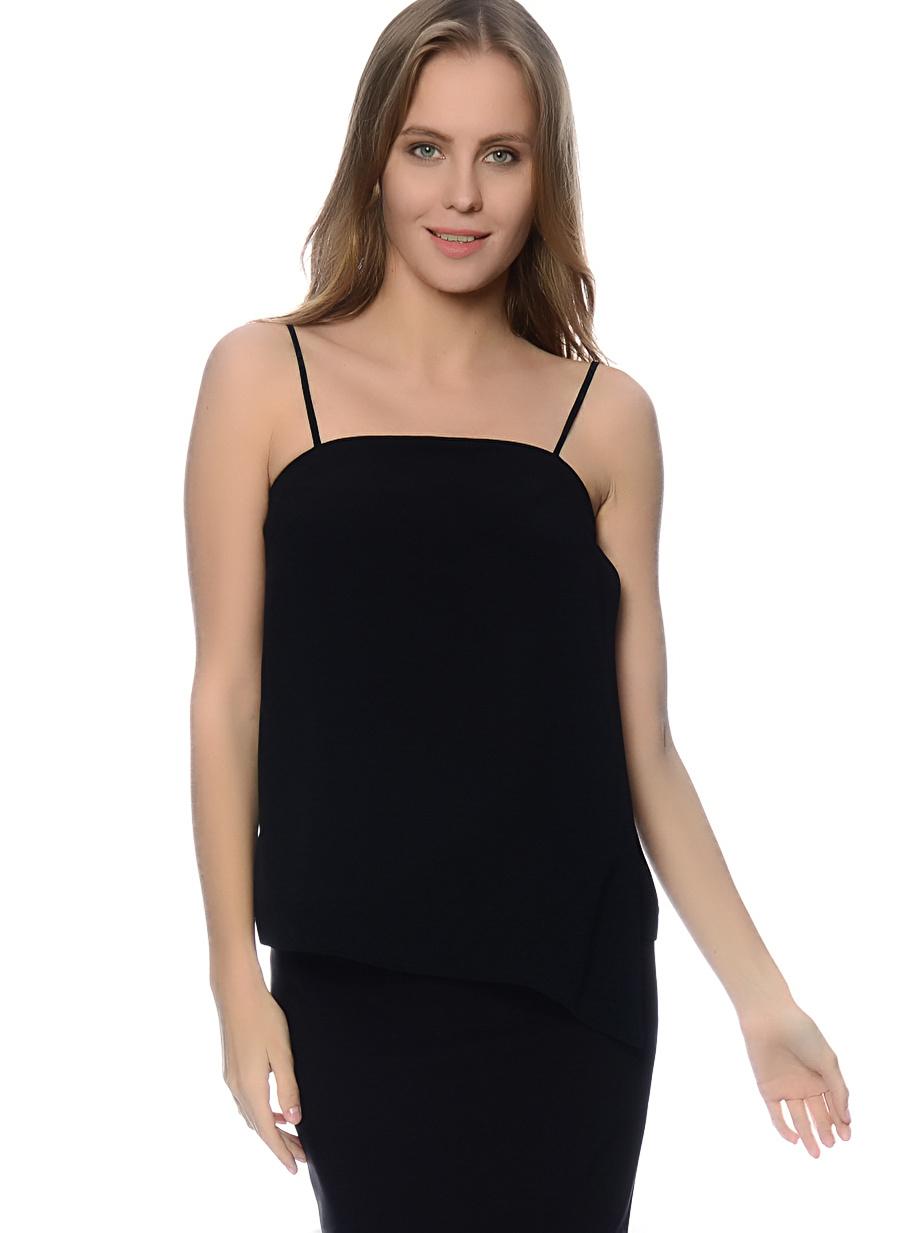 34 Siyah House Of Camellia Bluz Kadın Basic