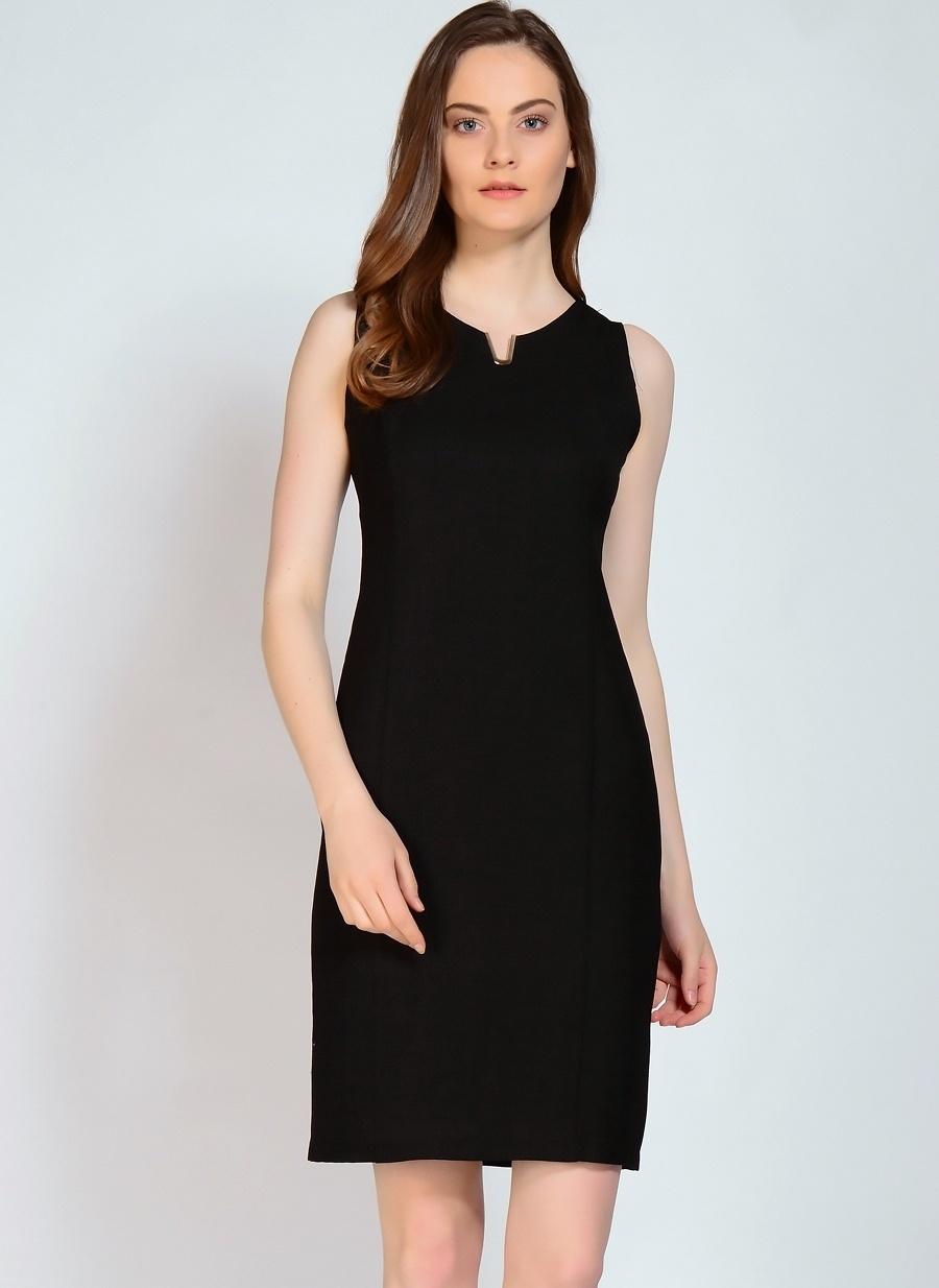 44 Siyah Selen Elbise Kadın Giyim