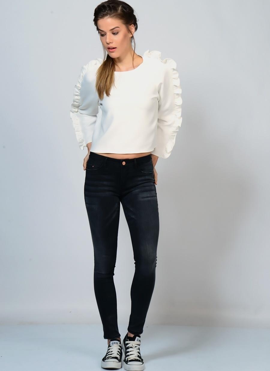 26-32 Koyu Antrasit İchi Ichi Denim Pantolon Kadın Giyim Jean